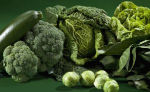 breast enlargement food in home with green vegetables